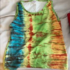 Tye dye workout tank